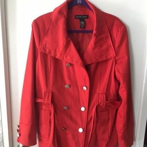 Women's XL Red Overcoat New York & Company